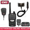GME TX6160X 5 WATT IP67 CB HAND HELD RADIO + 12V CRADLE + MC011 IP67 SPEAKER MIC