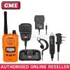 GME TX6160XO 5 WATT IP67 CB HAND HELD RADIO *ORANGE* & ACCESSORY PACK