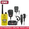 GME TX6160XY 5 WATT IP67 CB HAND HELD RADIO *YELLOW* & ACCESSORY PACK
