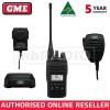 GME TX6600S 5 WATT UHF CB HANDHELD RADIO - IP67 + MC012 IP67 HD SPEAKER MIC