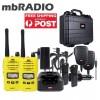 TX6160YTP YELLOW 5 WATT IP67 UHF CB HANDHELD TWIN PACK & HD CASE