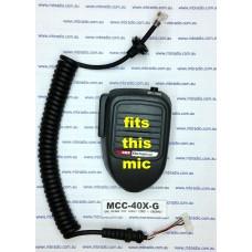 GME MICROPHONE CURLY CORD WITH GROMMET SUIT MC401/MC403/MC405/MC407/MC408 MICS