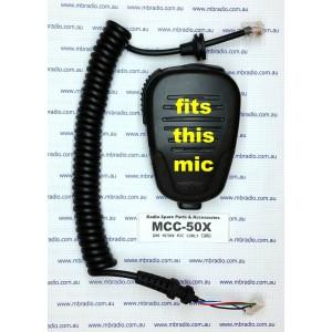 GME MICROPHONE CURLY CORD SUIT MC503/B, MC507/B, MC509/B MICROPHONES