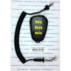 GME MICROPHONE CURLY CORD SUIT MC513/B, MC517/B MICROPHONES