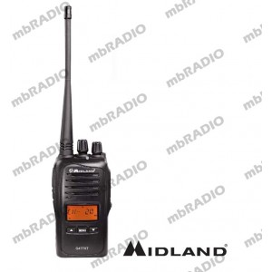 MIDLAND 5W 80CH UHF CB HANDHELD with DESKTOP CHARGER
