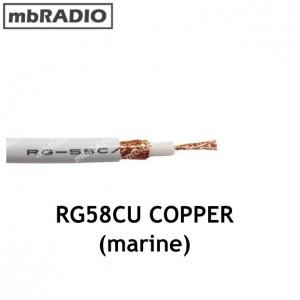 RG58CU WHITE 50Ω 5mm MULTI-STRAND COPPER COAX CABLE