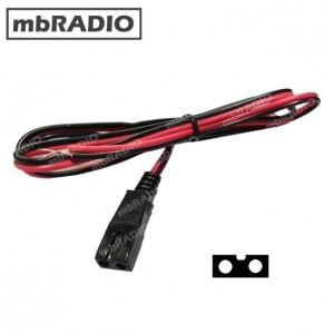 2 PIN SQUARE CB RADIO DC POWER LEAD, 2A FUSED, 1.2M